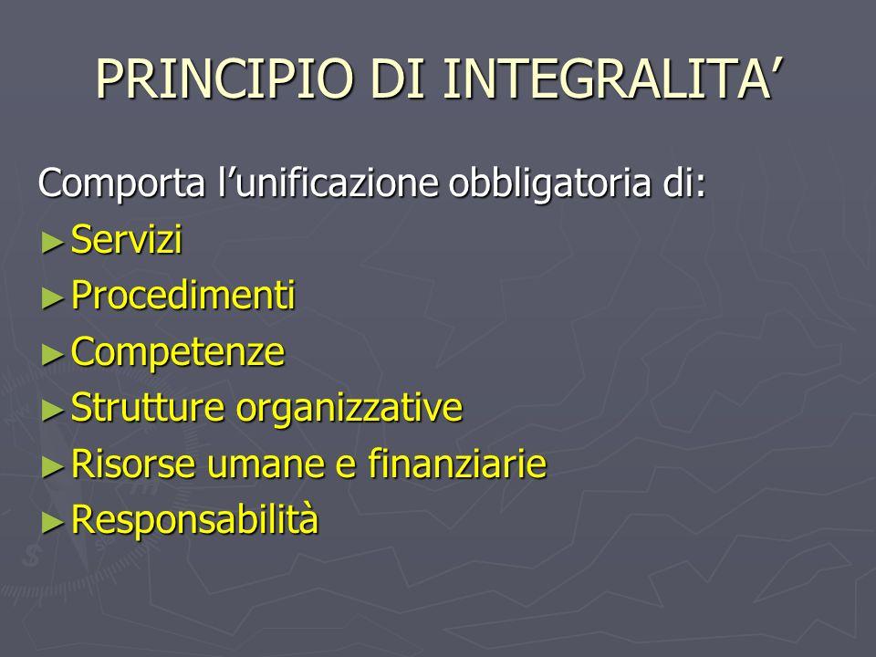 PRINCIPIO DI INTEGRALITA'