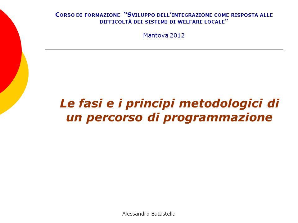 Le fasi e i principi metodologici di un percorso di programmazione