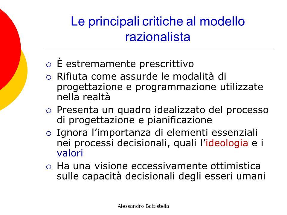 Le principali critiche al modello razionalista