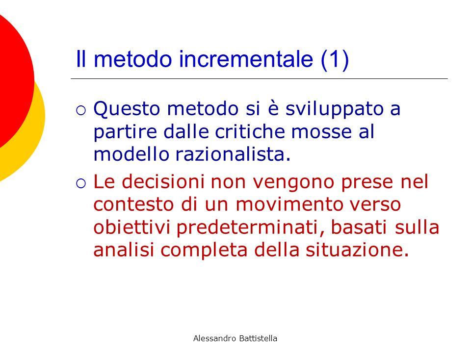 Il metodo incrementale (1)