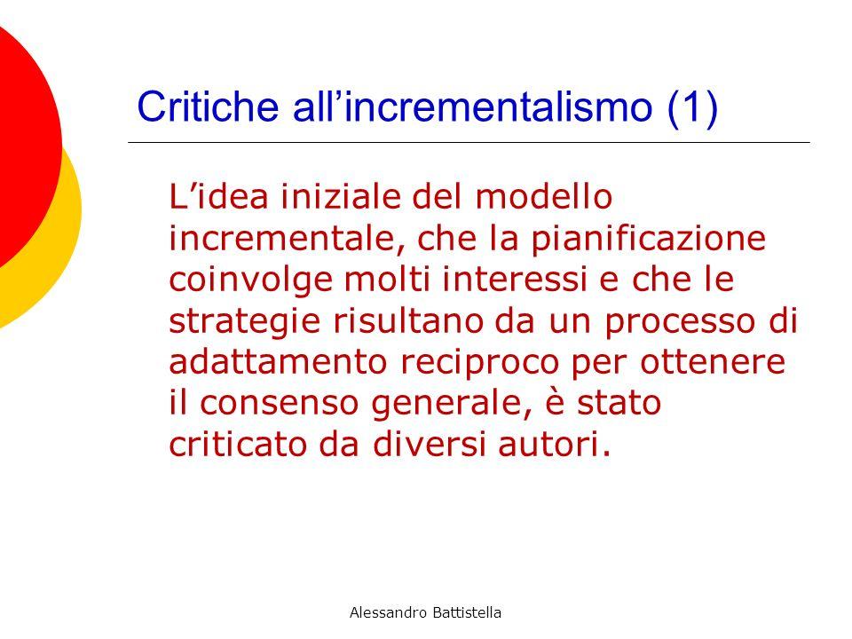 Critiche all'incrementalismo (1)