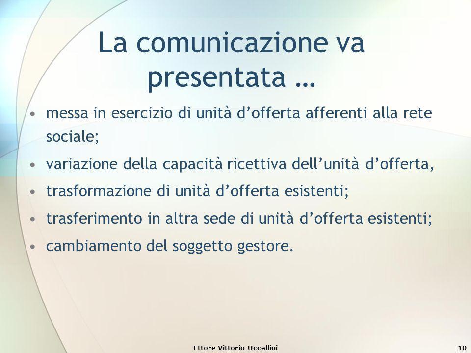 La comunicazione va presentata …