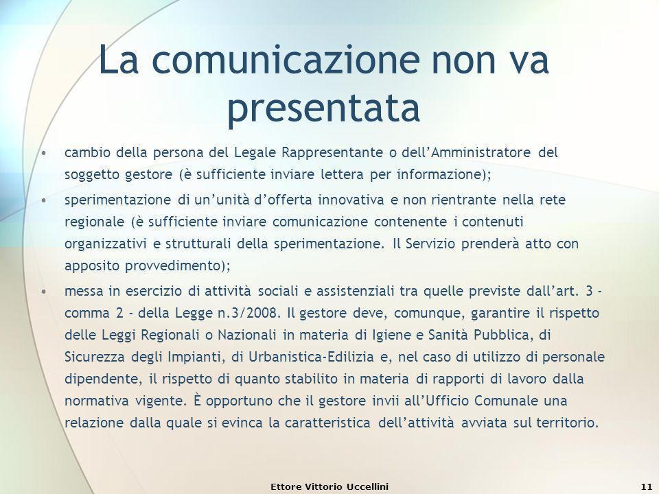 La comunicazione non va presentata