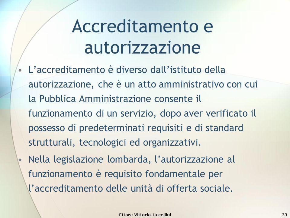 Accreditamento e autorizzazione