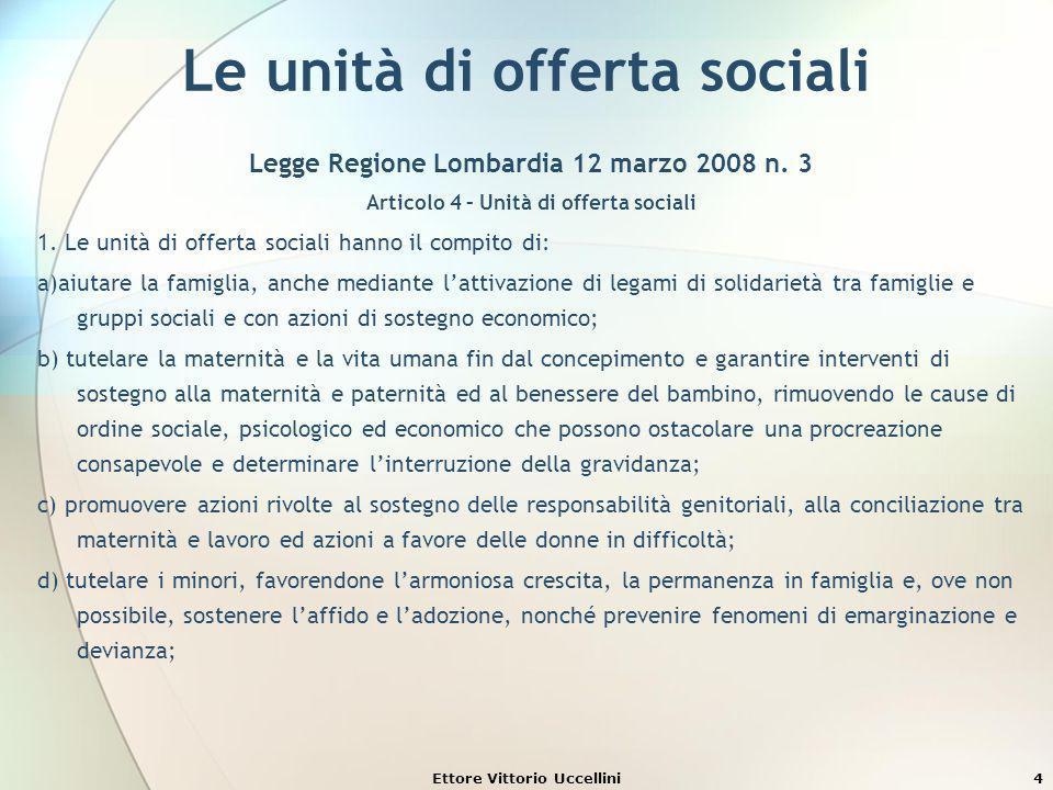 Le unità di offerta sociali