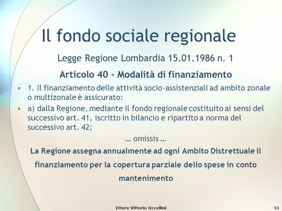Il fondo sociale regionale