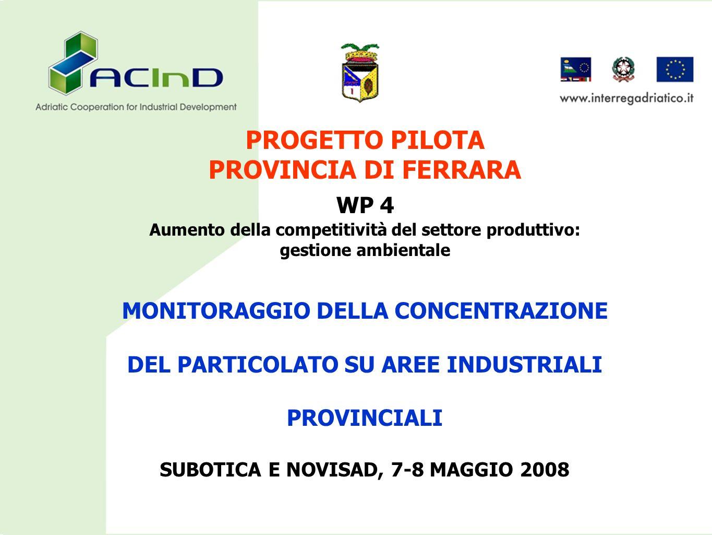 PROGETTO PILOTA PROVINCIA DI FERRARA