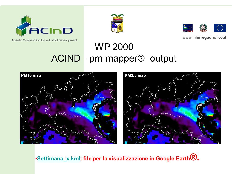 Settimana_x.kml: file per la visualizzazione in Google Earth®.