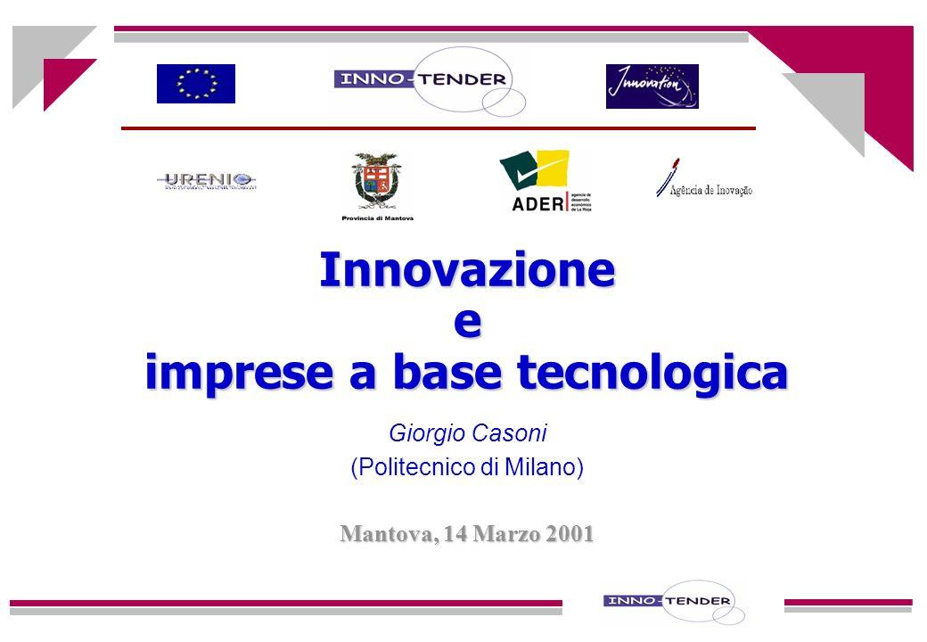Innovazione e imprese a base tecnologica