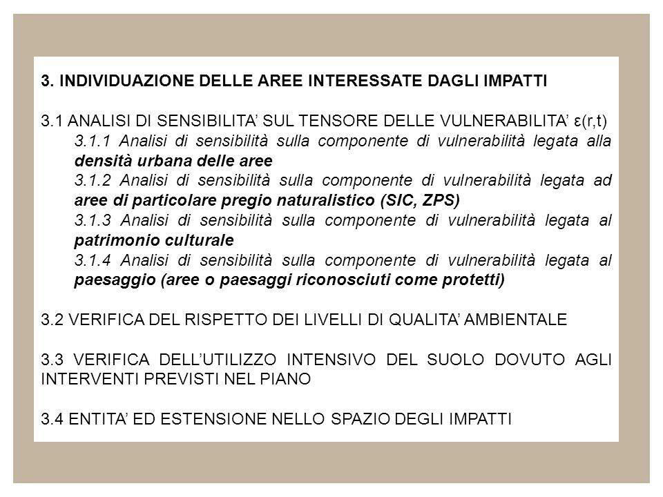 3. INDIVIDUAZIONE DELLE AREE INTERESSATE DAGLI IMPATTI