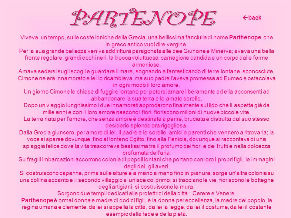 PARTENOPE back.