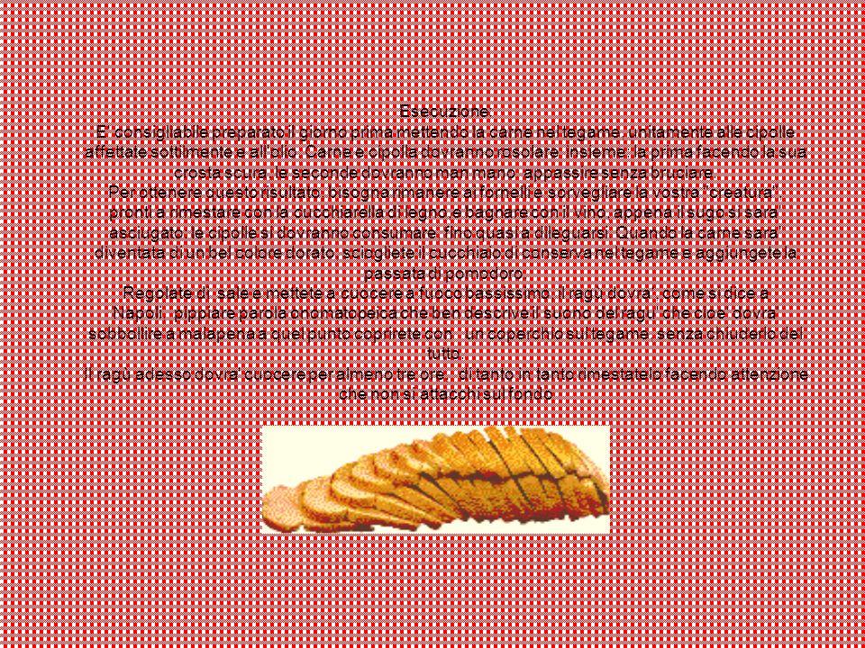 Esecuzione: E consigliabile preparato il giorno prima mettendo la carne nel tegame, unitamente alle cipolle affettate sottilmente e all olio.