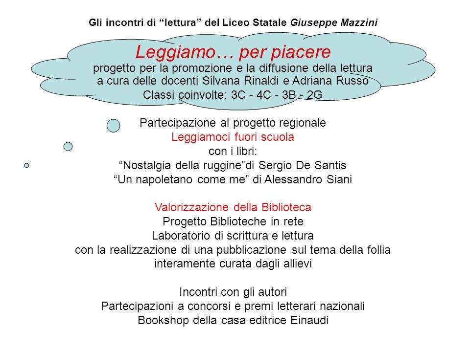 Gli incontri di lettura del Liceo Statale Giuseppe Mazzini