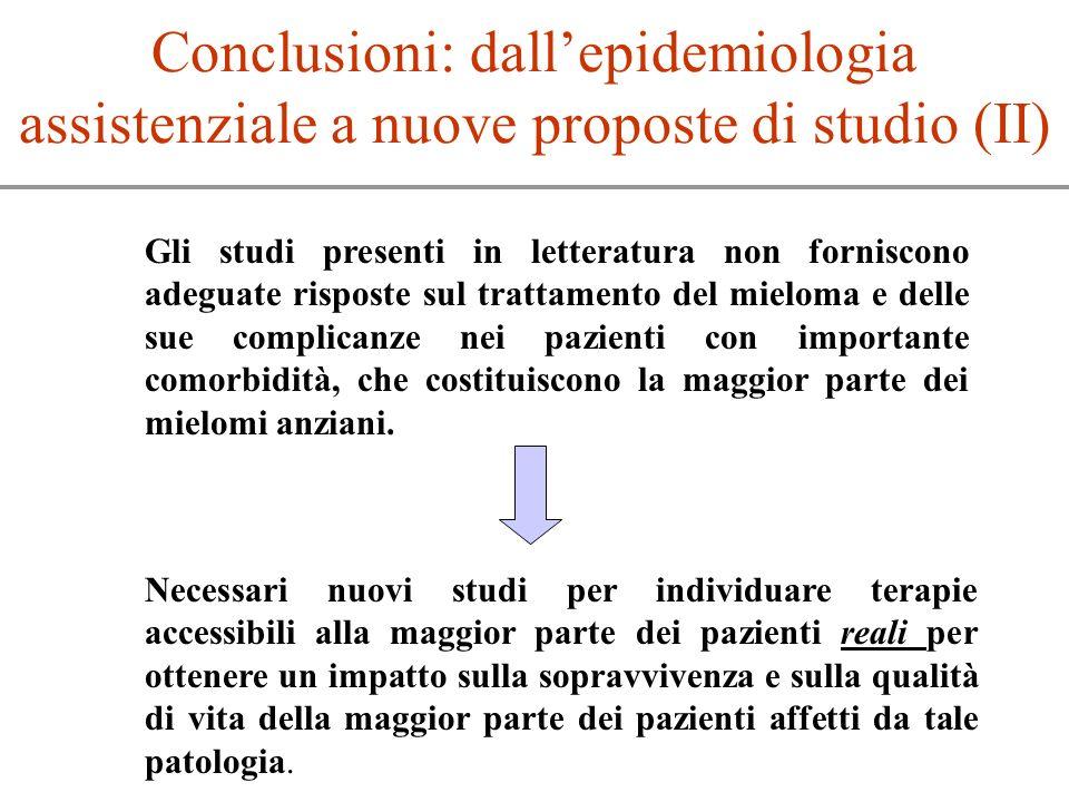 Conclusioni: dall'epidemiologia assistenziale a nuove proposte di studio (II)
