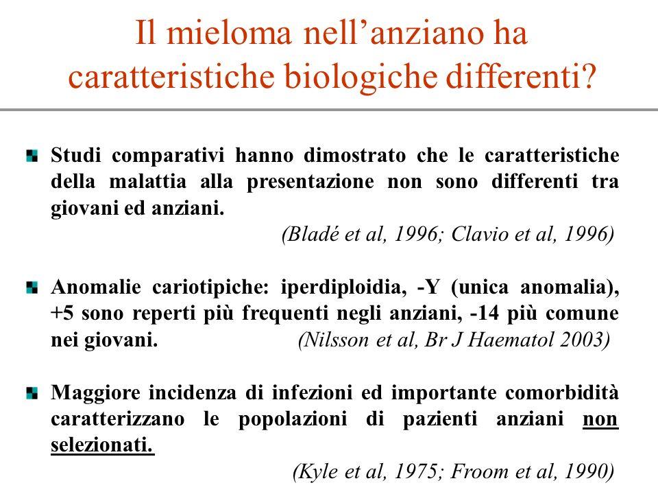 Il mieloma nell'anziano ha caratteristiche biologiche differenti