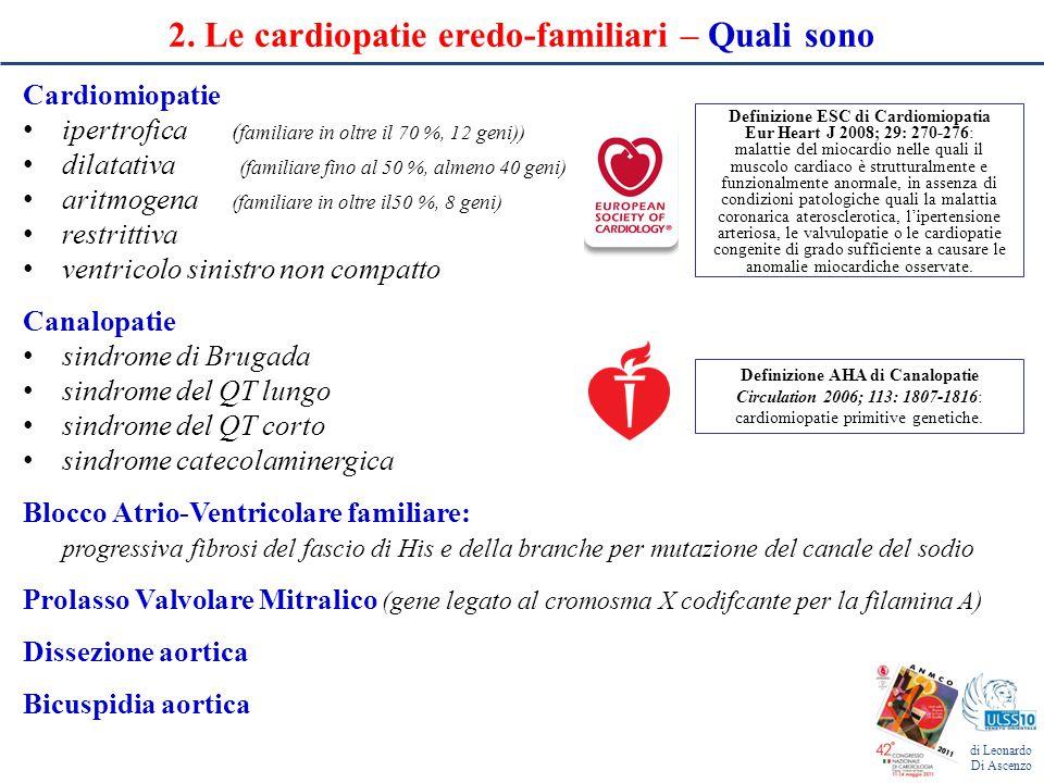 2. Le cardiopatie eredo-familiari – Quali sono