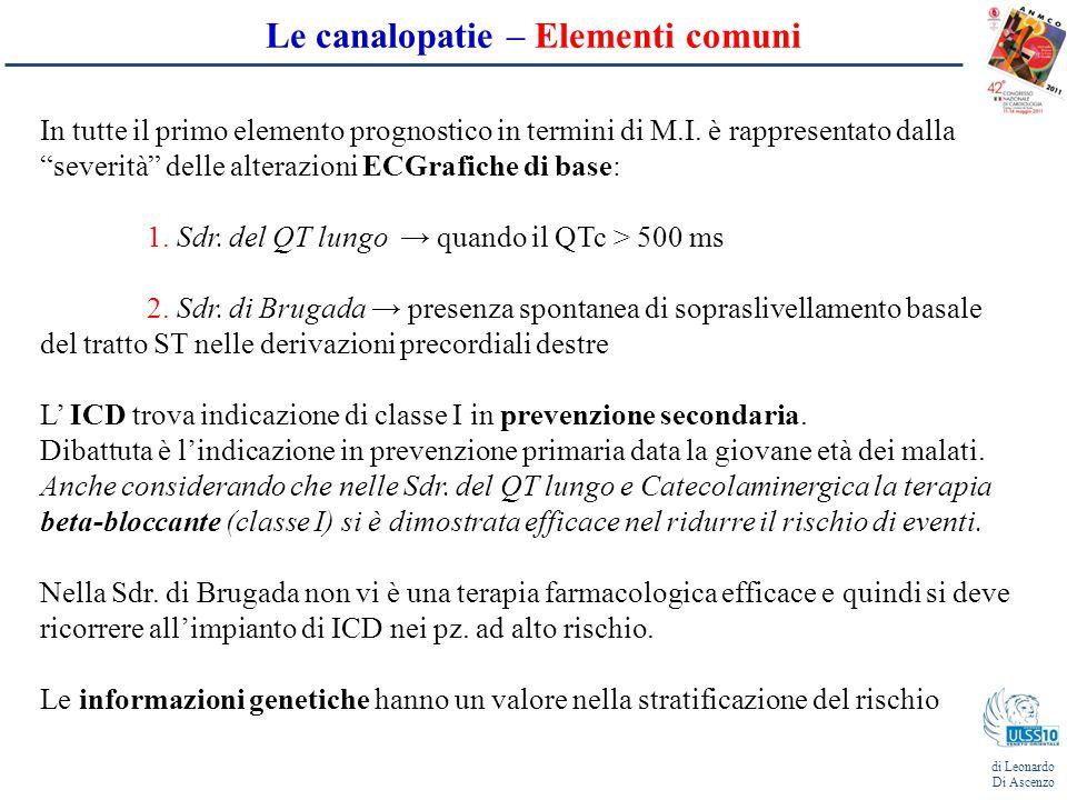 Le canalopatie – Elementi comuni