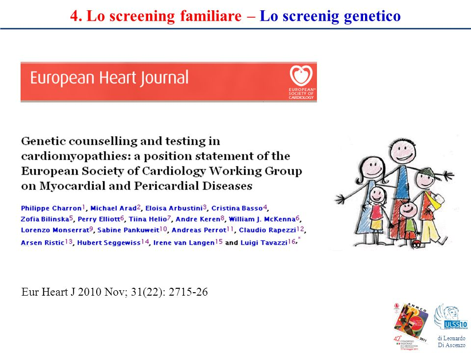 4. Lo screening familiare – Lo screenig genetico