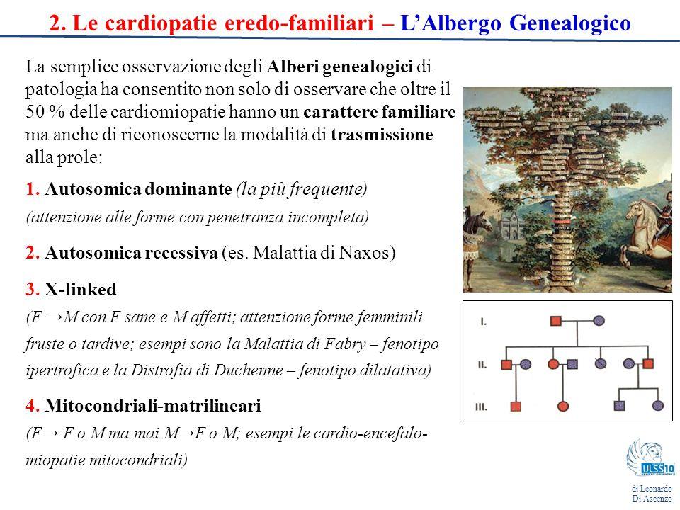 2. Le cardiopatie eredo-familiari – L'Albergo Genealogico