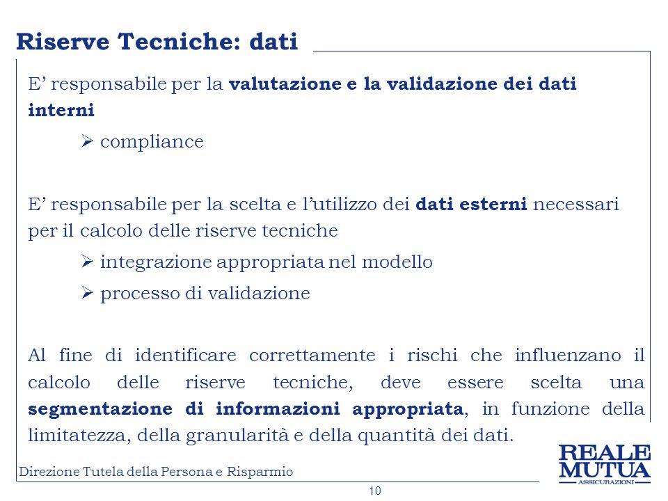 Riserve Tecniche: dati