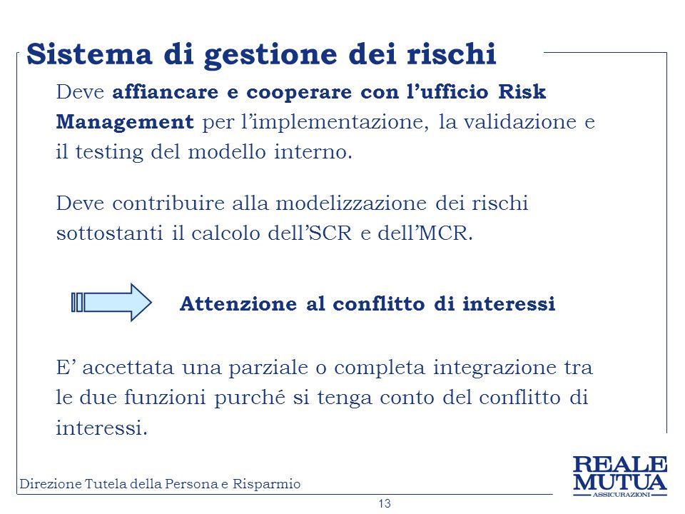 Sistema di gestione dei rischi