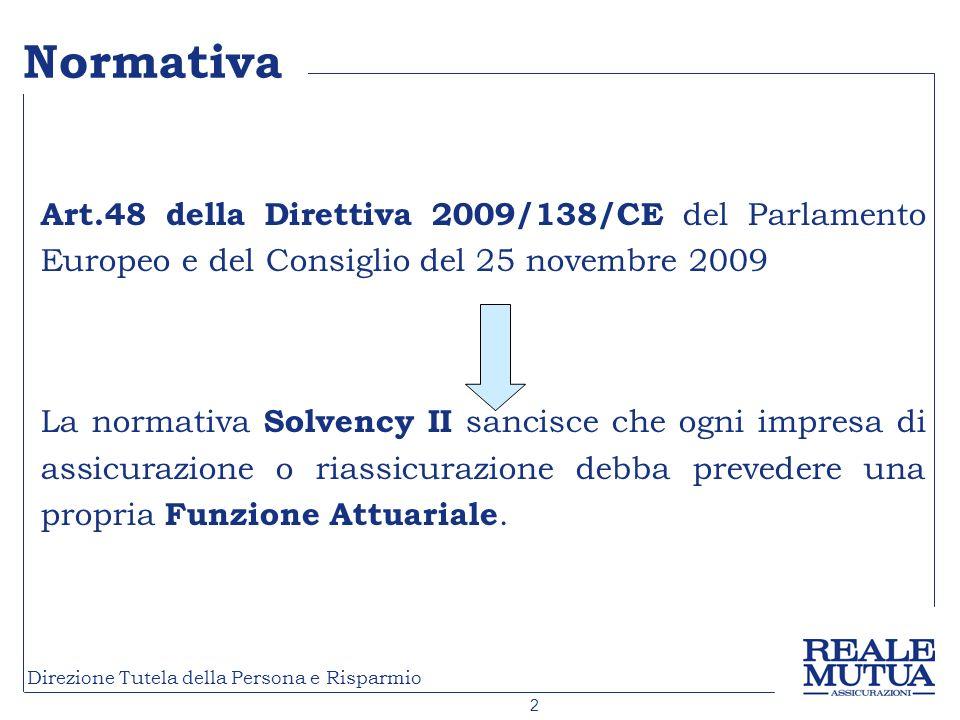 Normativa Art.48 della Direttiva 2009/138/CE del Parlamento Europeo e del Consiglio del 25 novembre 2009.