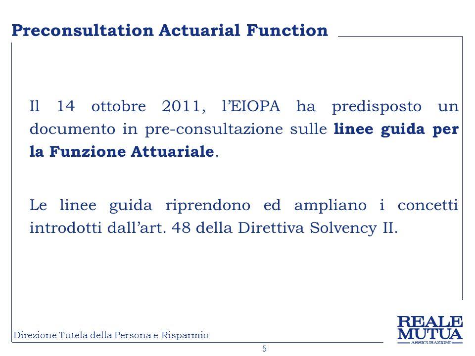 Preconsultation Actuarial Function