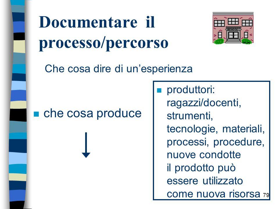Documentare il processo/percorso