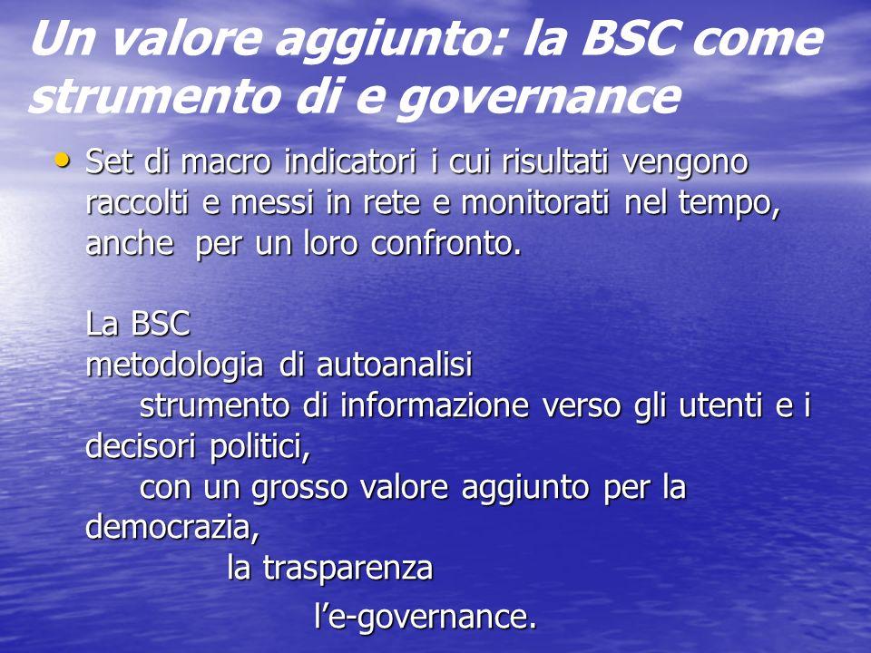 Un valore aggiunto: la BSC come strumento di e governance