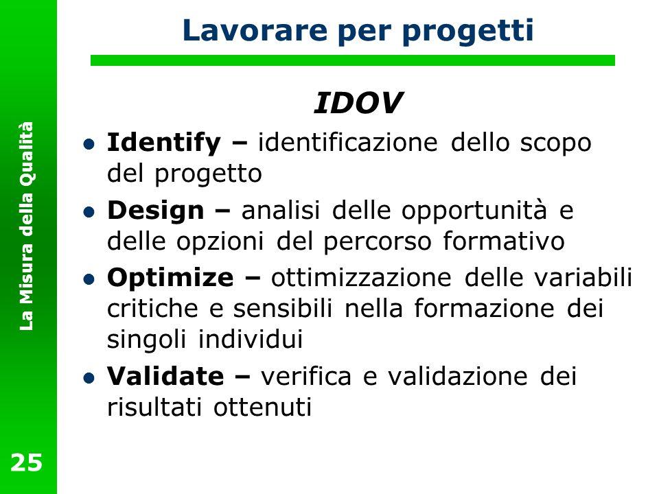 Lavorare per progetti IDOV