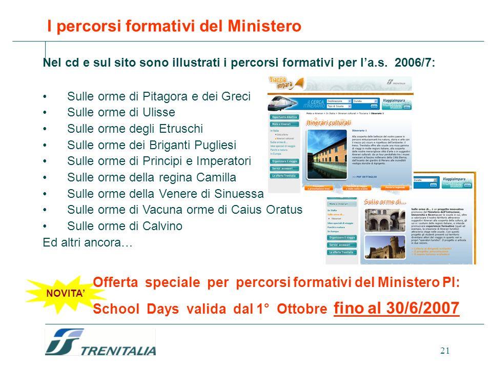 I percorsi formativi del Ministero