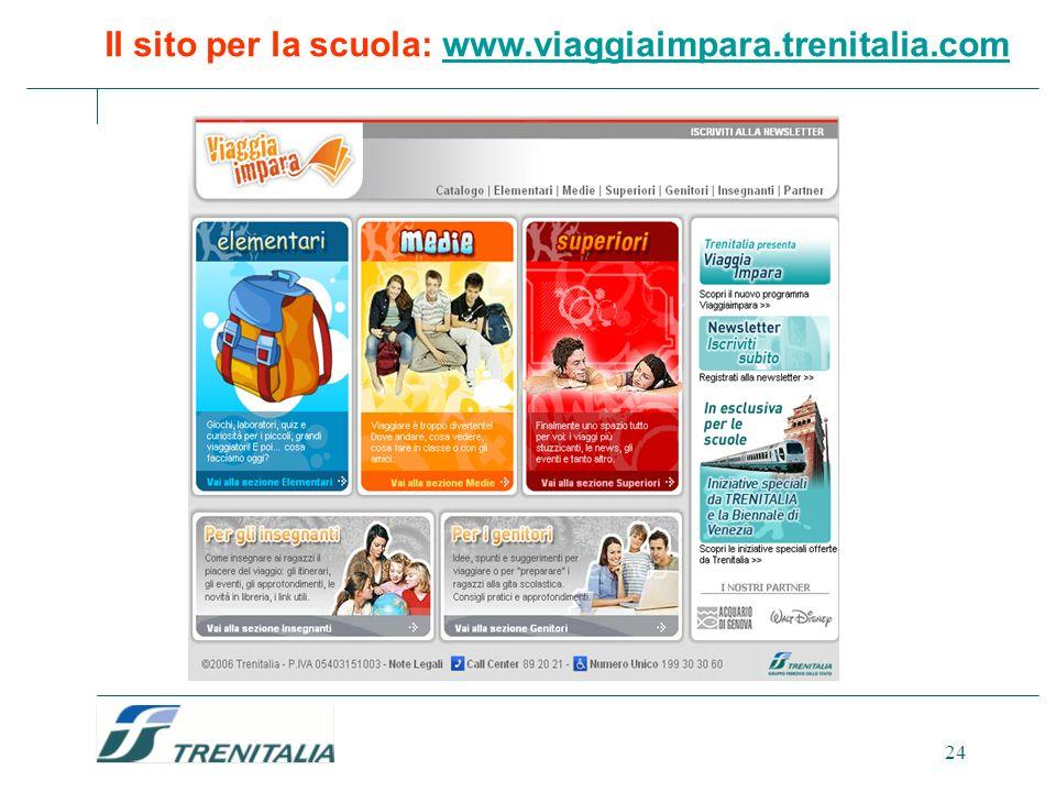 Il sito per la scuola: www.viaggiaimpara.trenitalia.com
