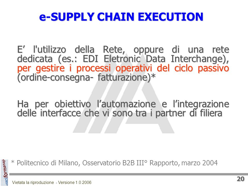e-SUPPLY CHAIN EXECUTION