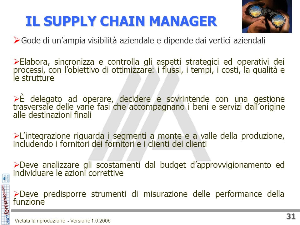 IL SUPPLY CHAIN MANAGER
