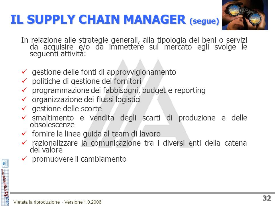 IL SUPPLY CHAIN MANAGER (segue)