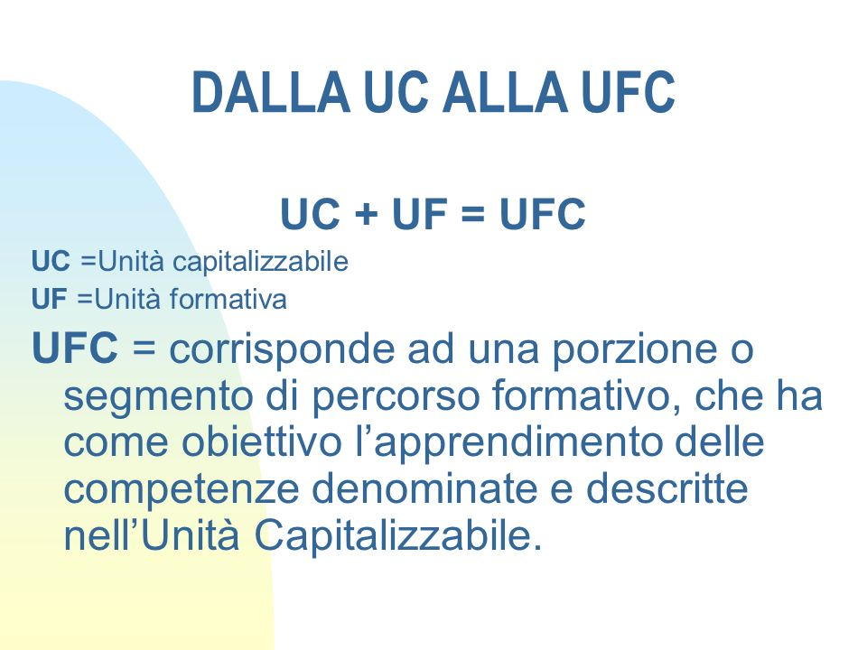 DALLA UC ALLA UFC UC + UF = UFC