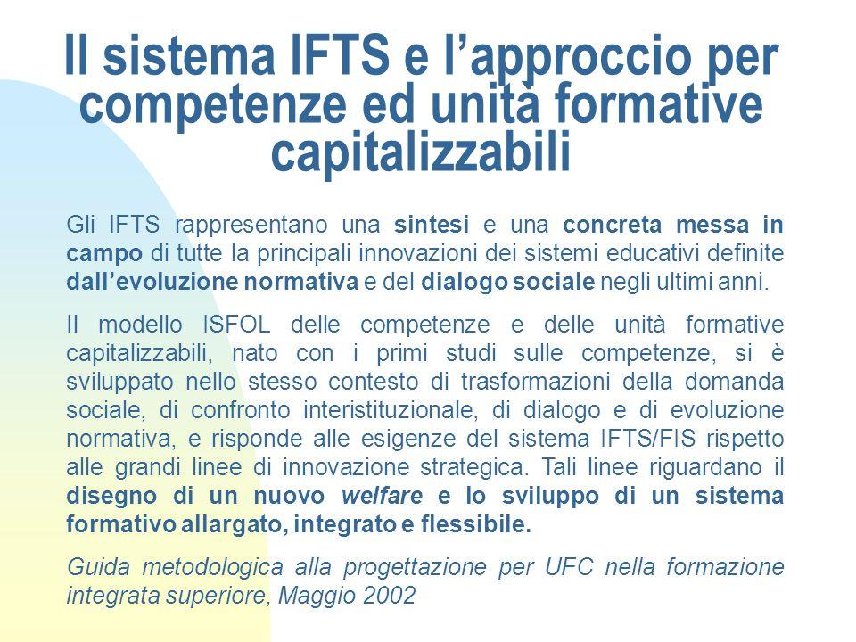 Il sistema IFTS e l'approccio per competenze ed unità formative capitalizzabili
