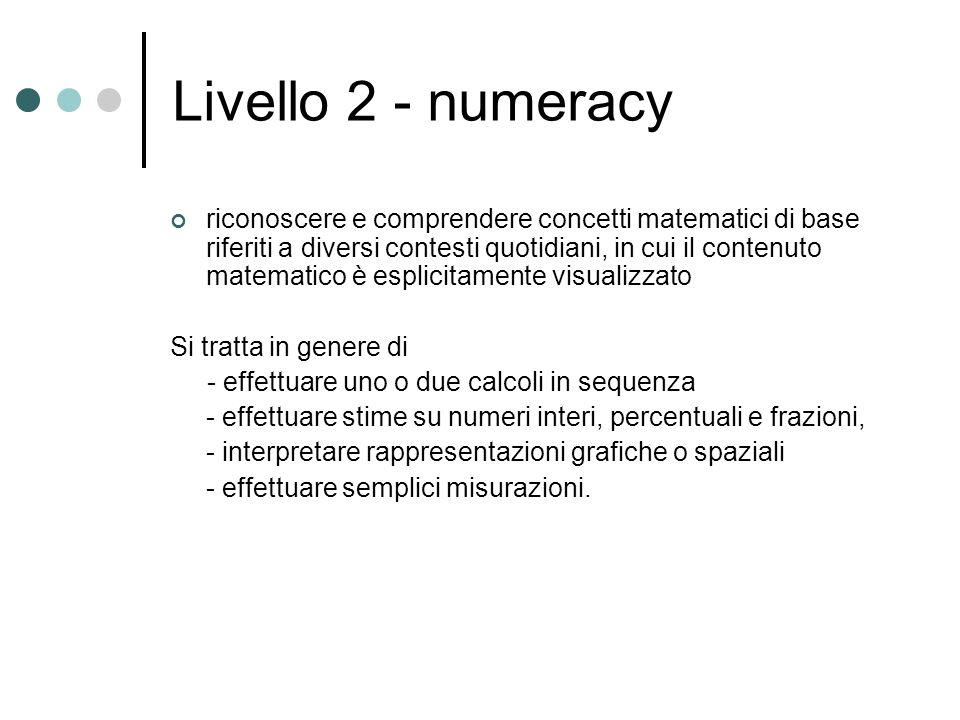 Livello 2 - numeracy
