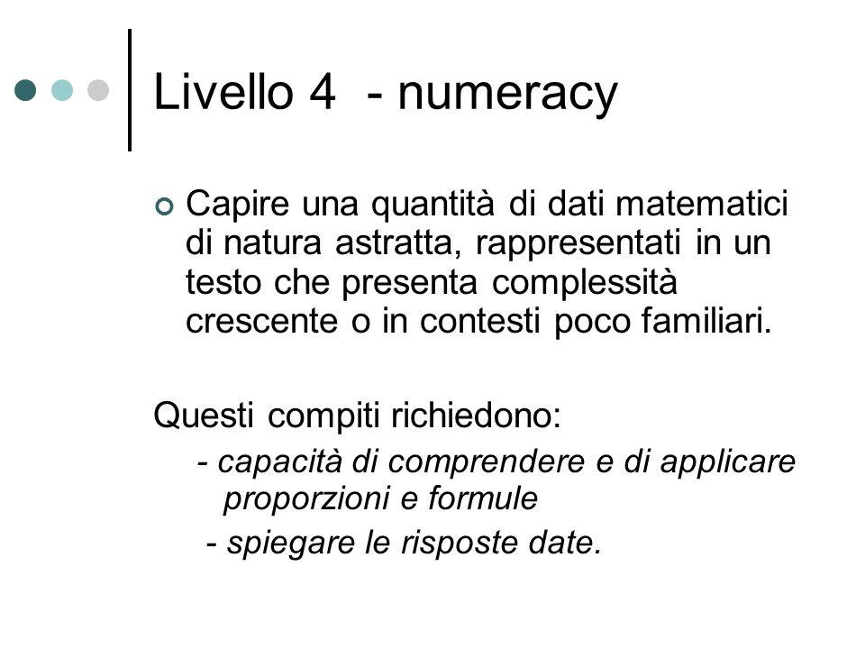 Livello 4 - numeracy
