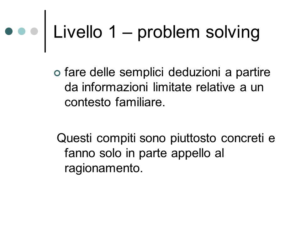 Livello 1 – problem solving