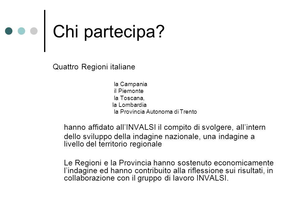 Chi partecipa Quattro Regioni italiane