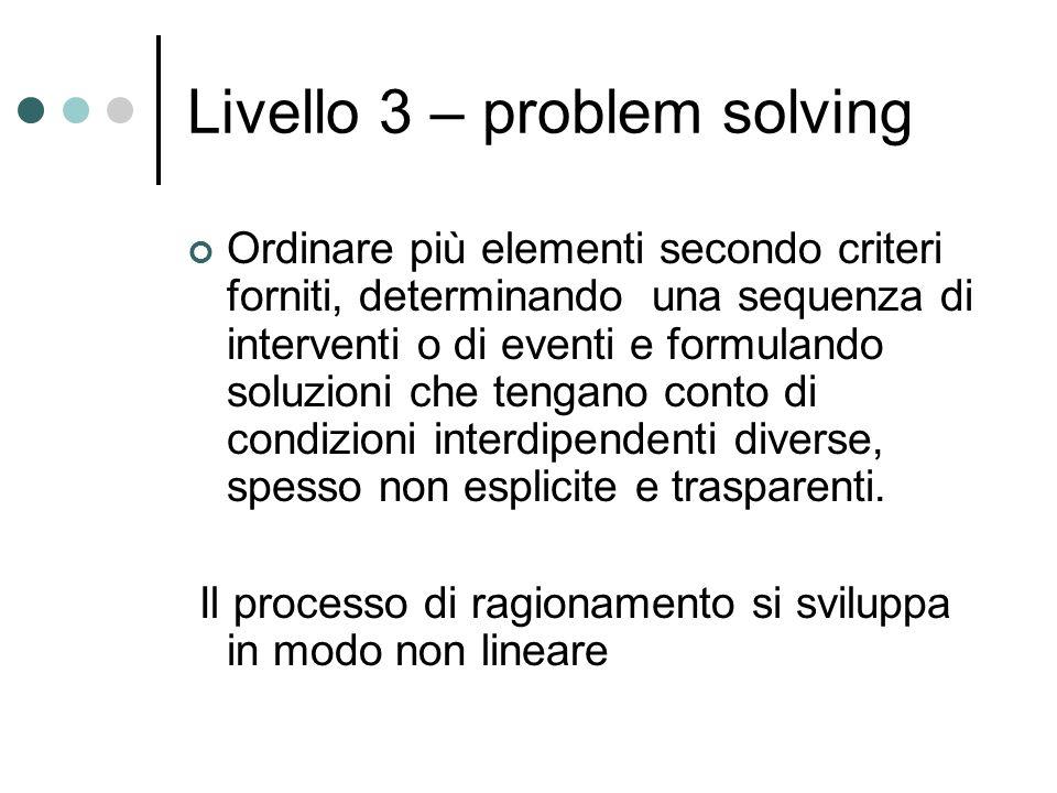 Livello 3 – problem solving