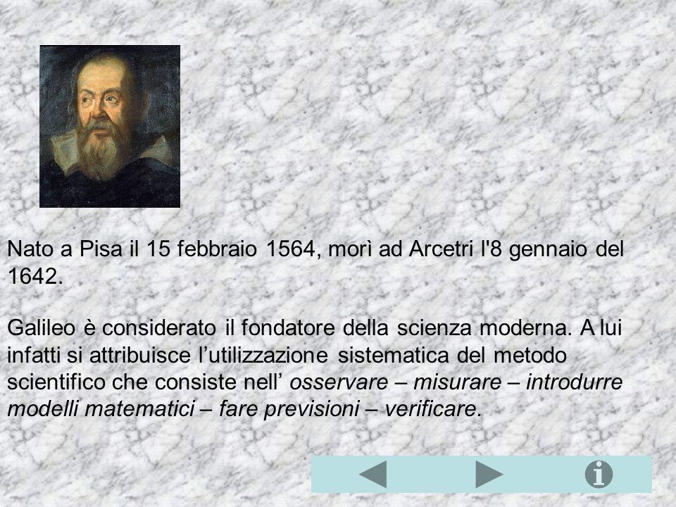 Nato a Pisa il 15 febbraio 1564, morì ad Arcetri l 8 gennaio del 1642.