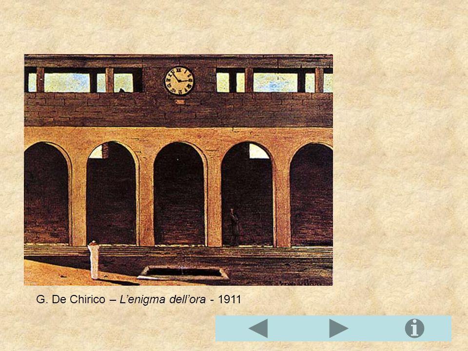 G. De Chirico – L'enigma dell'ora - 1911