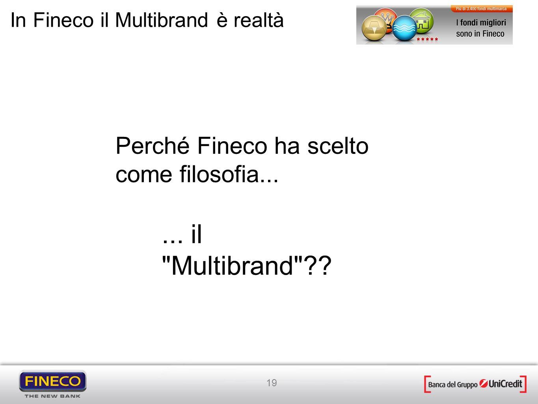 ... il Multibrand Perché Fineco ha scelto come filosofia...