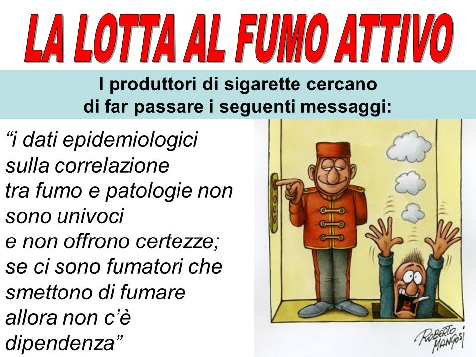 I produttori di sigarette cercano