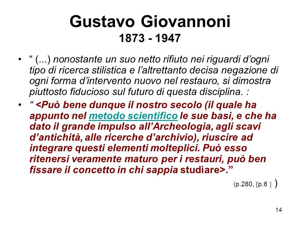 Gustavo Giovannoni 1873 - 1947