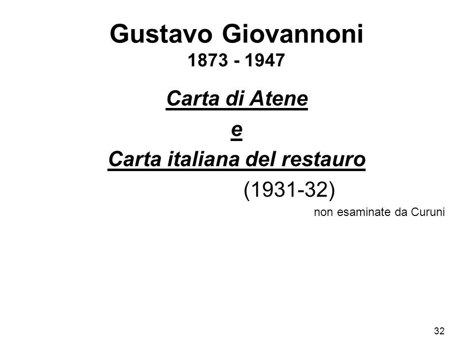Carta italiana del restauro