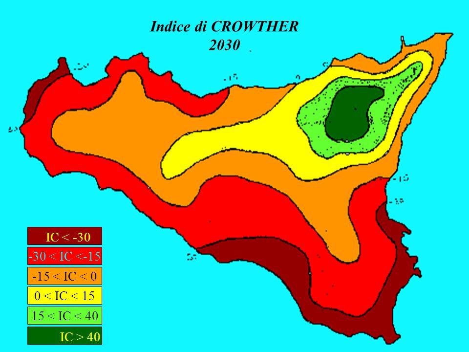 Indice di CROWTHER 2030 IC < -30 IC > 40 -30 < IC <-15