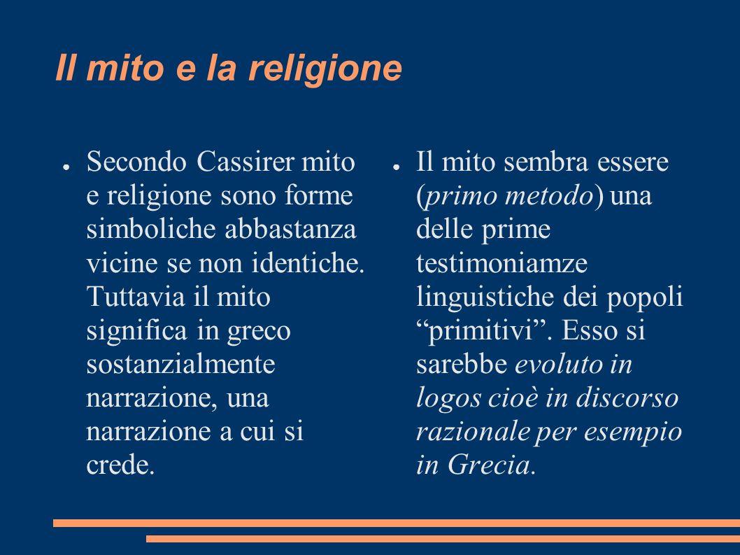 Il mito e la religione